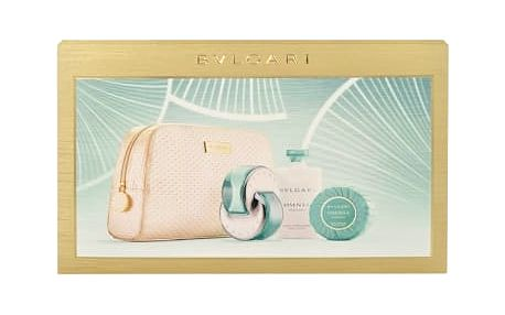 Bvlgari Omnia Paraiba dárková kazeta pro ženy toaletní voda 65 ml + tělové mléko 75 ml + mýdlo 75 g + kosmetická taška