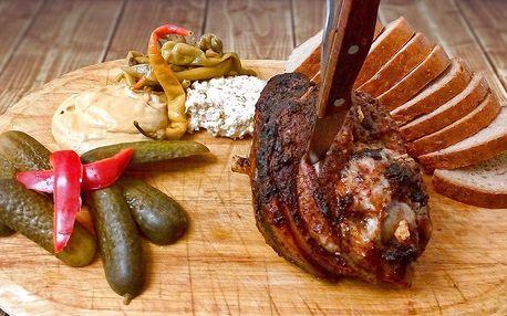 Pečené koleno v příjemné Restauraci pod Jasanem
