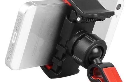 Držák telefonu do ventilátoru auta - červeno-černý