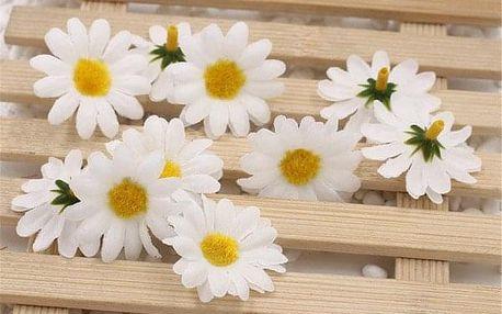 Umělé dekorativní květy 10 ks - více barev