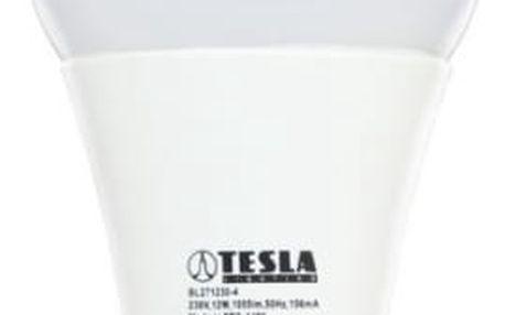 Žárovka LED Tesla klasik, 12W, E27, teplá bílá (BL271227-4) bílá