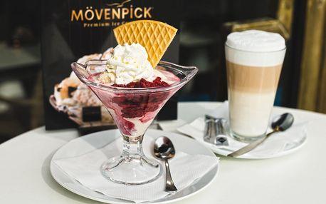 Božský zmrzlinový pohár v kavárně pod Vítkovem