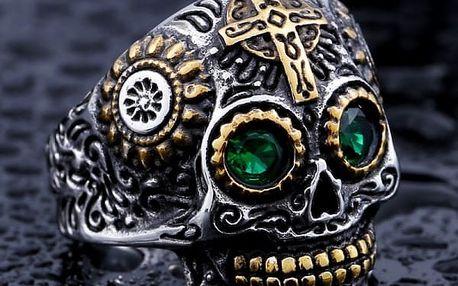 Pánský prsten s lebkou v různých velikostech - 4 barvy