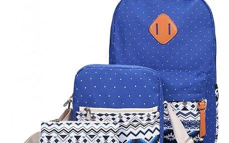 Sada - batoh, taška přes rameno a malá taštička