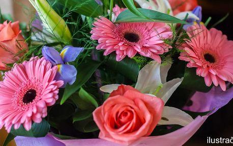 Menší a větší čerstvé kytice s možností rozvozu