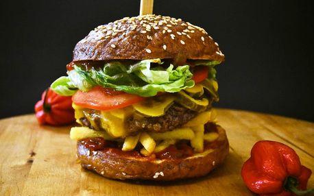 Hovězí burger a hranolky take away – tři druhy