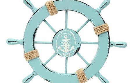 Světle modré kormidlo s háčkem na zavěšení