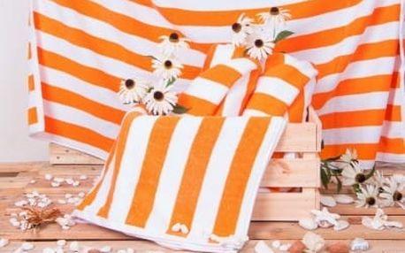 Plážová froté osuška CABANA - oranžová 100x150 cm
