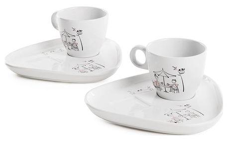 Kávový keramický set pro 2 Keramika Snack