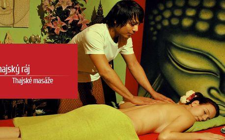 Hodinové thajské masáže s koupelí Garra Rufa v Thajském ráji