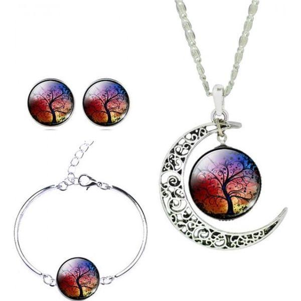 Sada náhrdelníku, náušnic a náramku v mnoha motivech