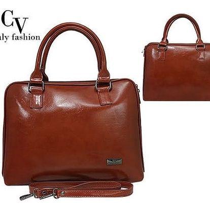 Elegantní dámská kabelka z ekokůže Camel