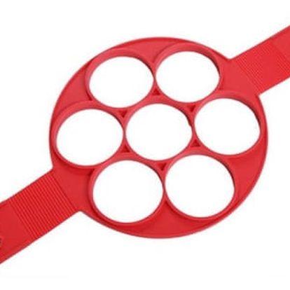 Silikonový lívanečník - červená barva - dodání do 2 dnů