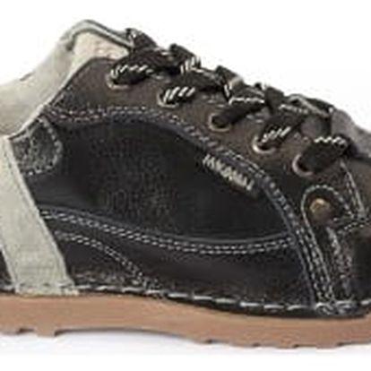 Dámské kožené boty Casual Fashion černo-šedé