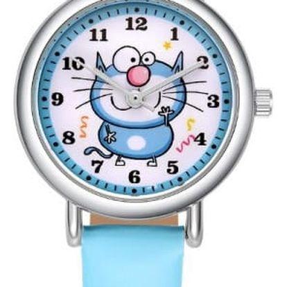 Dětské hodinky s kočičkou - 4 barvy