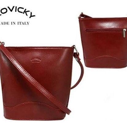 Dámská kabelka z pravé kůže TWR-28 Red