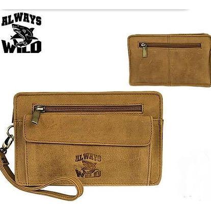 Pánská taška do ruky z pravé kůže 1416-H Tan