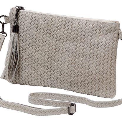 Krémová kabelka z pravé kůže Andrea Cardone Michele