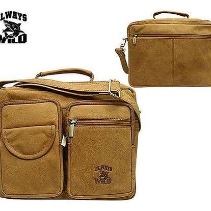 Pánská taška z pravé kůže LB24V-H Yellow