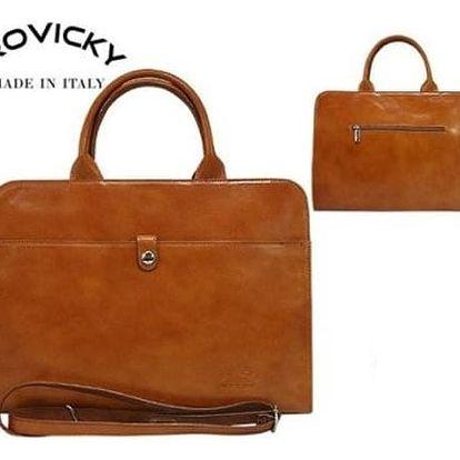 Dámská kabelka TWR-25 z pravé italské kůže Camel