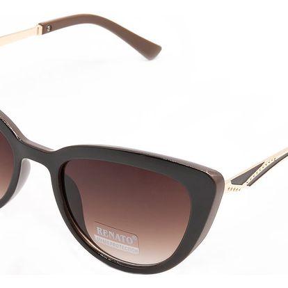 Dámské sluneční brýle See Vision kočičího tvaru hnědé zlaté