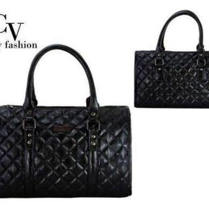Módní dámská kabelka prošívaná Italy Fashion černá