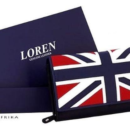 Dámská peněženka z pravé kůže LOREN Flag Red