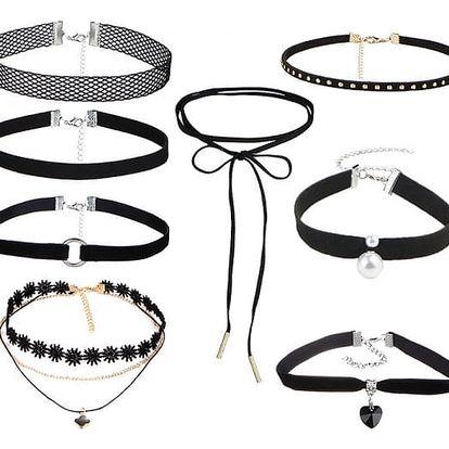 Set rozmanitých choker náhrdelníků - 8 kusů - dodání do 2 dnů
