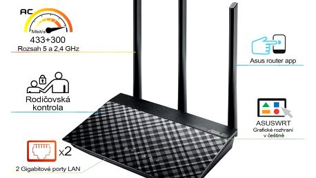 ASUS RT-AC53 - 90IG02Z1-BM3000 + Webshare VIP Silver, 1 měsíc, 10GB, voucher zdarma
