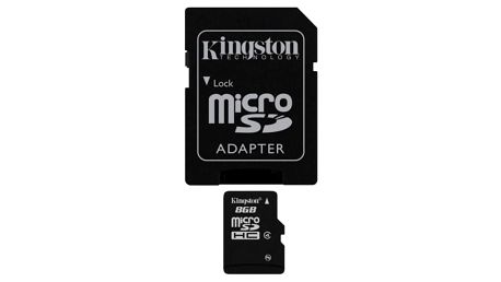Paměťová karta Kingston 8GB Class4 + adapter (SDC4/8GB)