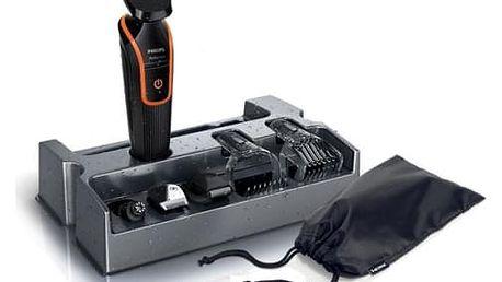 Zastřihovač vousů Philips QG3340/16 černý/oranžový