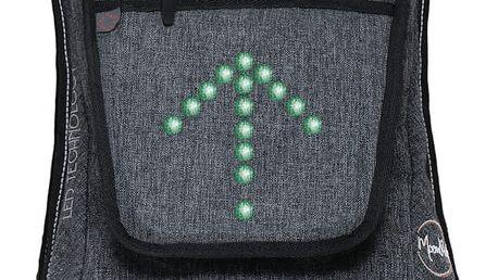 Menší cyklistický batoh se signálovým LED značením MoonRide - doprava zdarma!