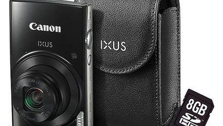 Digitální fotoaparát Canon IXUS 182 + orig.pouzdro + 8GB SD karta černý + Doprava zdarma