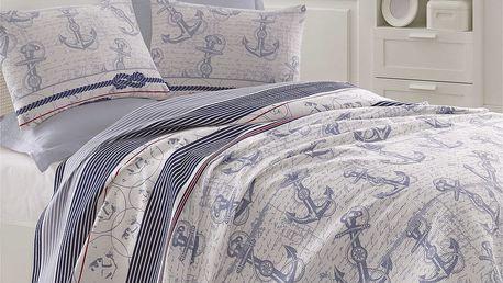 Lehký přehoz přes postel Capa Blue, 200x235cm
