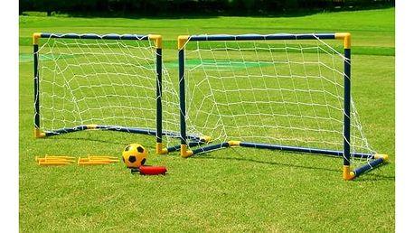 Brankový set Master s míčem 85 x 60 x 42 cm modrý/žlutý