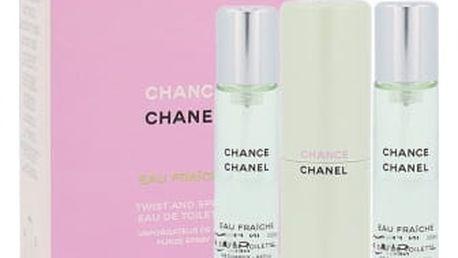 Chanel Chance Eau Fraiche 3x 20 ml 20 ml toaletní voda Twist and Spray pro ženy