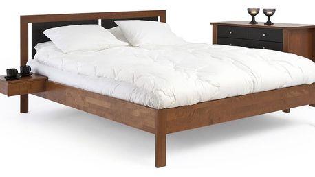 Do hněda mořená ručně vyráběná postel z masivního březového dřeva Kiteen Koli, 160x200cm - doprava zdarma!