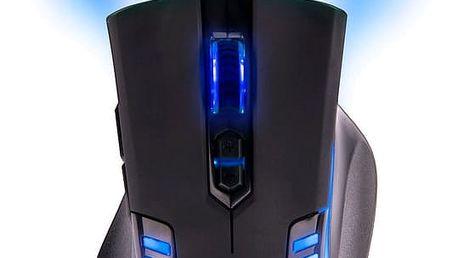 C-TECH GM-17 Empusa, modré LED - GM-17B + Podložka C-TECH Anthea Cyber, modrá v ceně 150 Kč