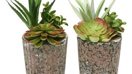 Sada 2 umělých rostlin v květináči Versa Tudo