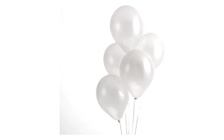 Sada 50 bílých balónků Neviti Simply Love
