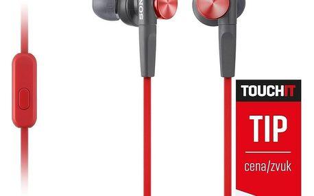 Sony MDR-XB50AP, červená - MDRXB50APR.CE7