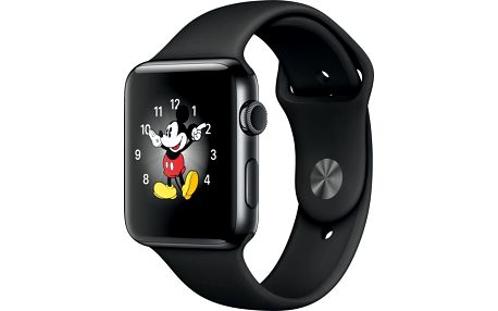 Apple Watch 2 42mm Space Black Stainless Steel Case with Space Black Sport Band - MP4A2CN/A