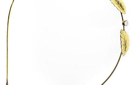 Čelenka do vlasů s patinou listy a kaminky