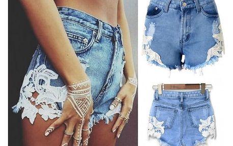 Dámské džínové šortky s krajkou Sandy