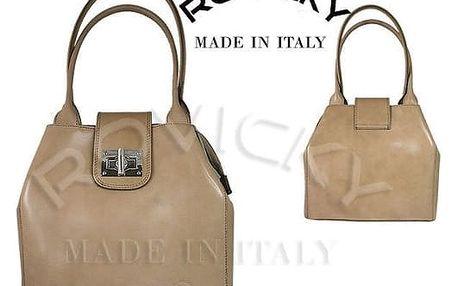 Dámská kožená kabelka z pravé italské kůže béžová