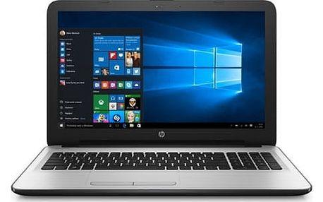 Notebook HP 15-ba066nc (X3L19EA#BCM) stříbrný/bílý