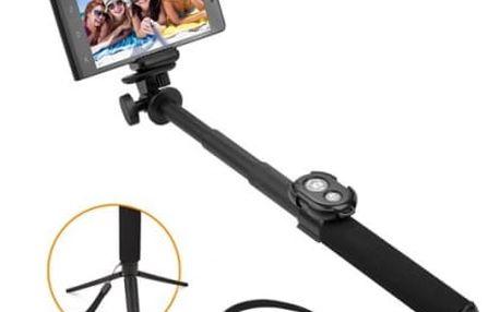 Selfie tyč GoGEN 5 teleskopická, bluetooth (GOGBTSELFIE5B) černá