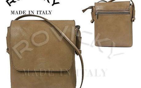 Dámská kabelka z pravé kůže TWR-3 Béžová