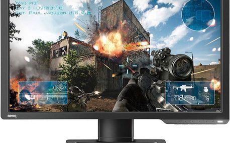 """ZOWIE by BenQ XL2411 FHD - LED monitor 24"""" - 9H.LELLB.RBE + Čisticí utěrka z mikrovlákna C-TECH CPM-001R (v ceně 119,-)"""