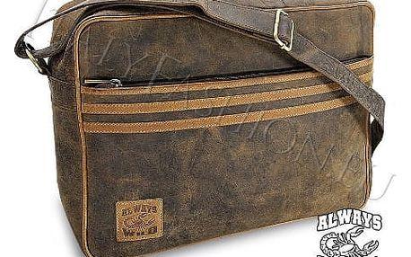 Pánská taška z pravé kůže LB-233-H Brown